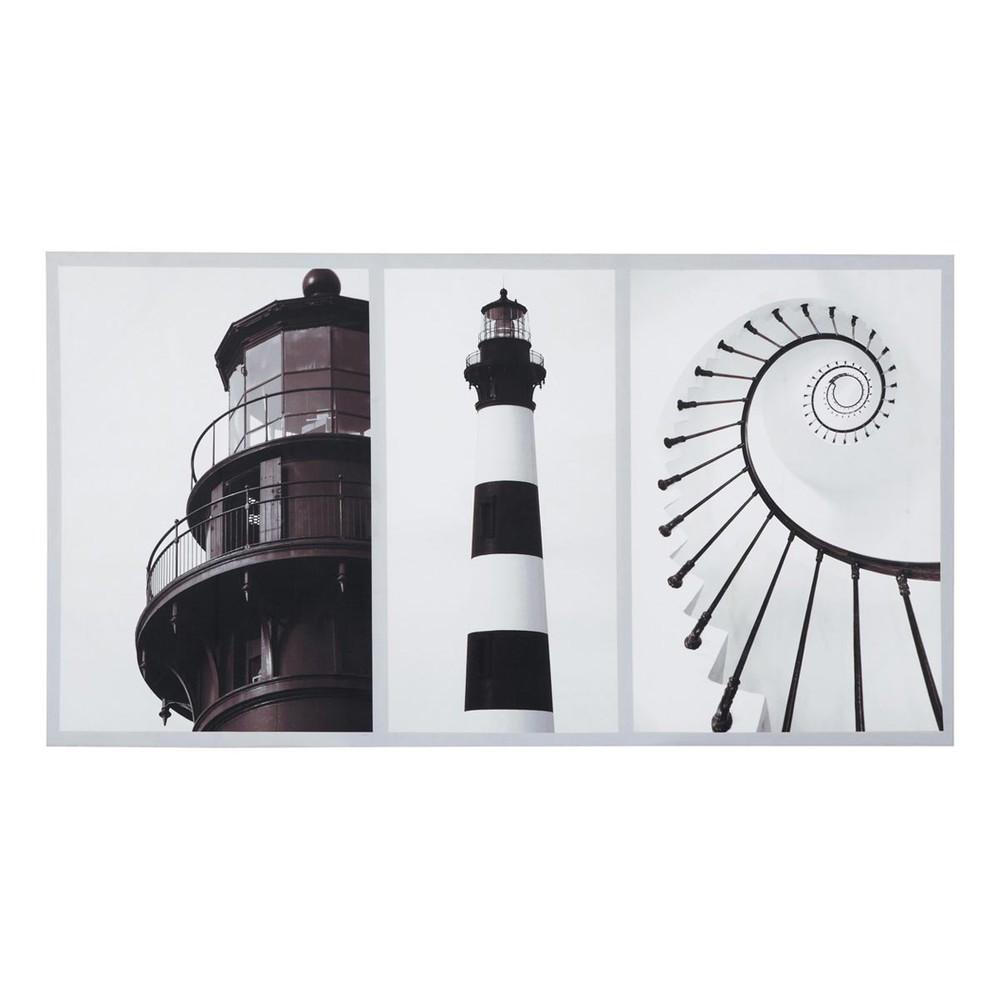 toile phare littoral maisons du monde. Black Bedroom Furniture Sets. Home Design Ideas