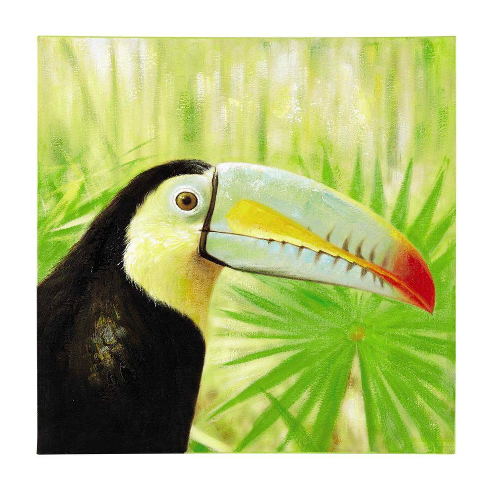 Toile toucan 90 x 90 cm paco maisons du monde for Maison du monde tableaux