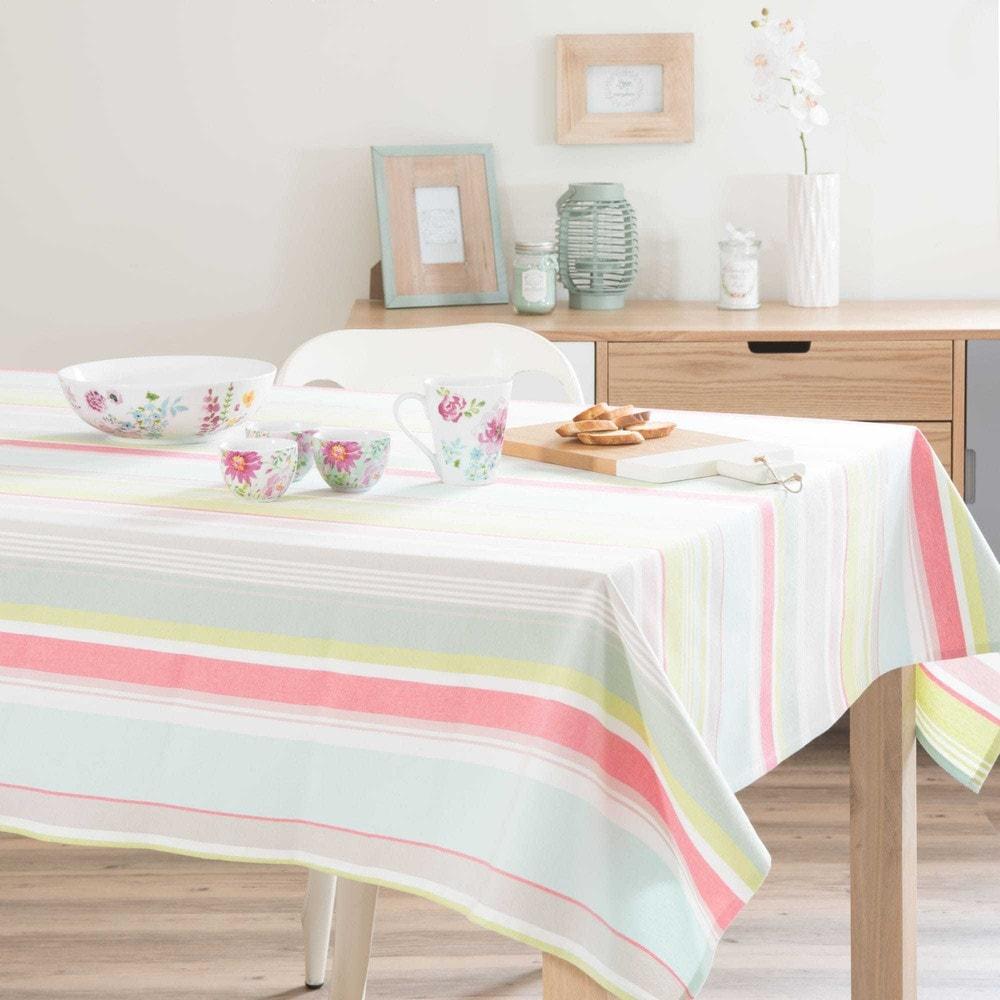 tovaglia rigata in cotone 150 x 350 cm calypso maisons du monde. Black Bedroom Furniture Sets. Home Design Ideas