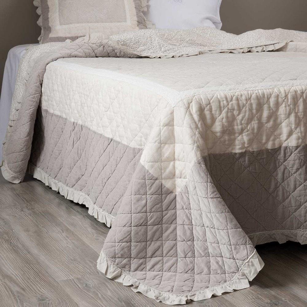 trapunta beige in lino 240 x 260 cm am lie maisons du monde. Black Bedroom Furniture Sets. Home Design Ideas
