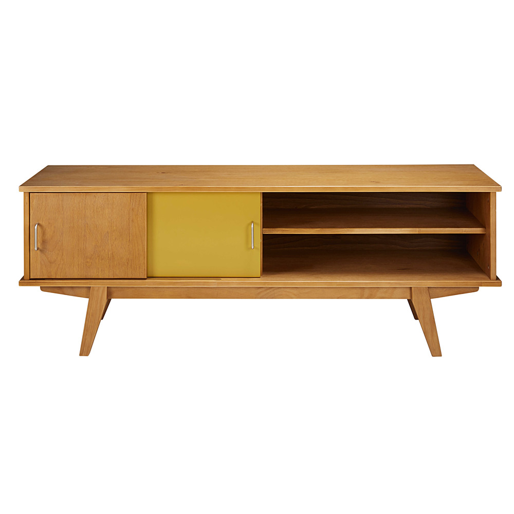 tricoloured vintage 2 door tv unit paulette maisons du monde. Black Bedroom Furniture Sets. Home Design Ideas