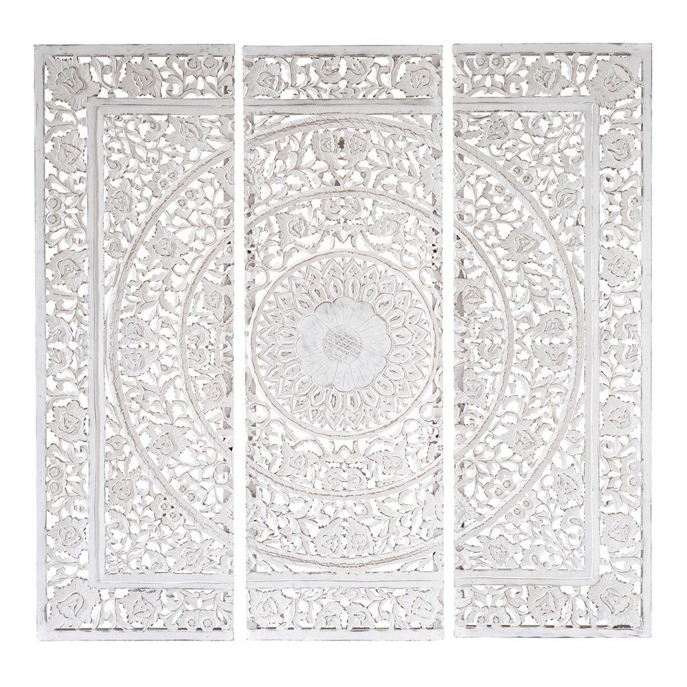 triptychon andaman aus holz 150 x 150 cm wei maisons du monde. Black Bedroom Furniture Sets. Home Design Ideas