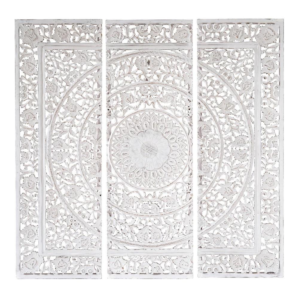 Triptyque Blanc 150 X 150 Cm Andaman Maisons Du Monde