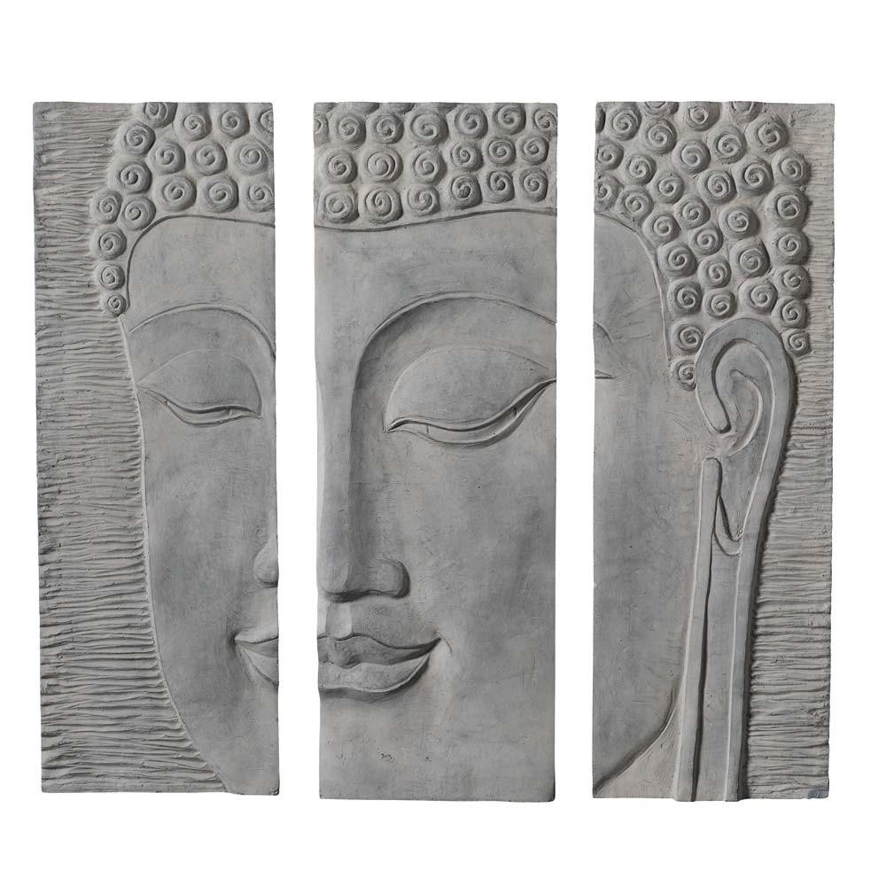 superior triptyque maison du monde 14 triptyque bouddha