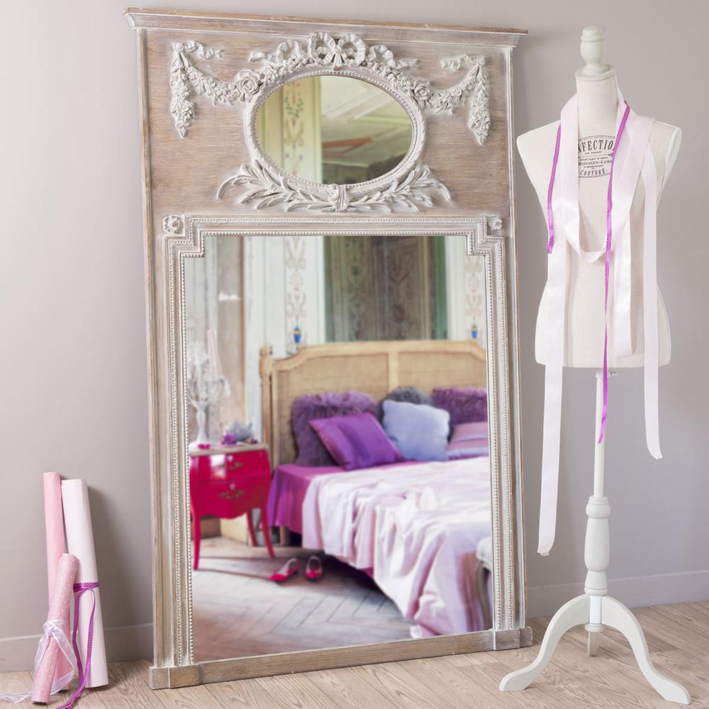 trumeau spiegel mirano aus holz h 160 cm maisons du monde. Black Bedroom Furniture Sets. Home Design Ideas