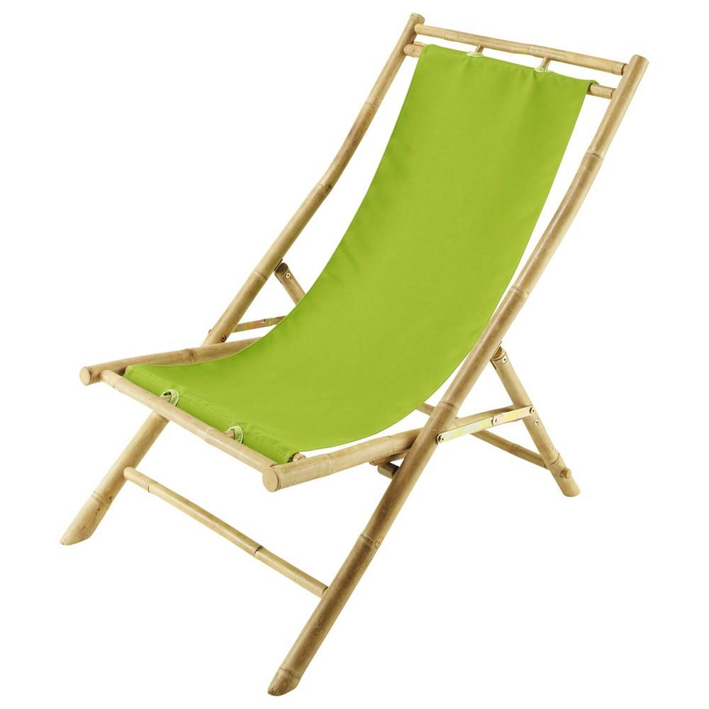Tumbona silla de playa plegable de bamb l 94 cm robinson for Tumbona playa decathlon