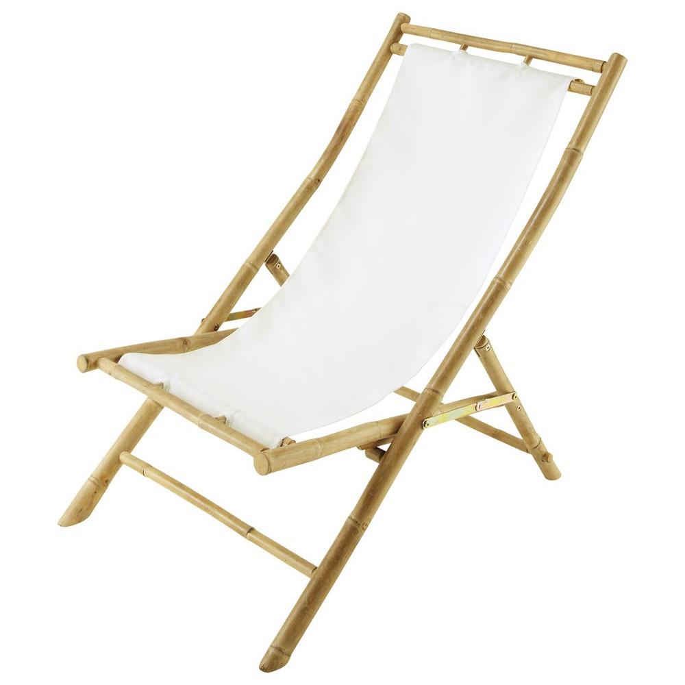 Tumbona silla de playa plegable de bamb l 94 cm robinson maisons du monde - Maison du monde 94 ...