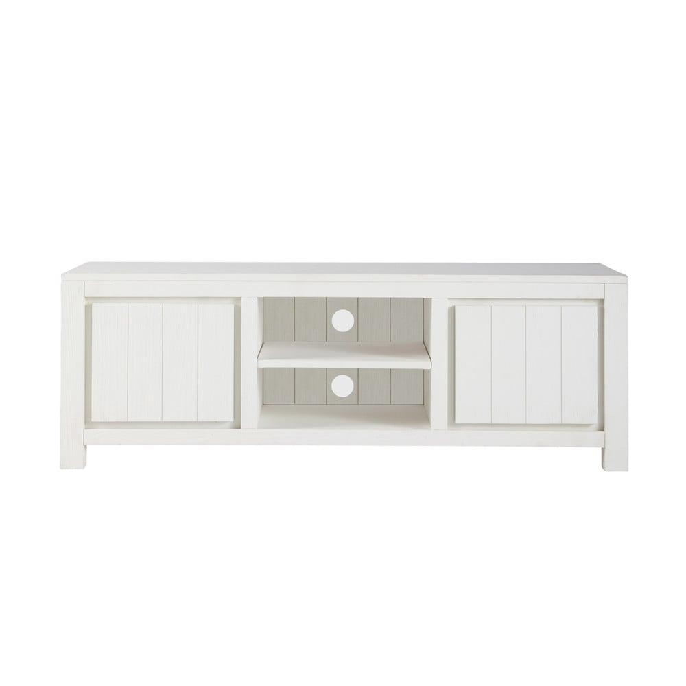 tv lowboard aus massivholz b 145 cm wei white maisons du monde. Black Bedroom Furniture Sets. Home Design Ideas