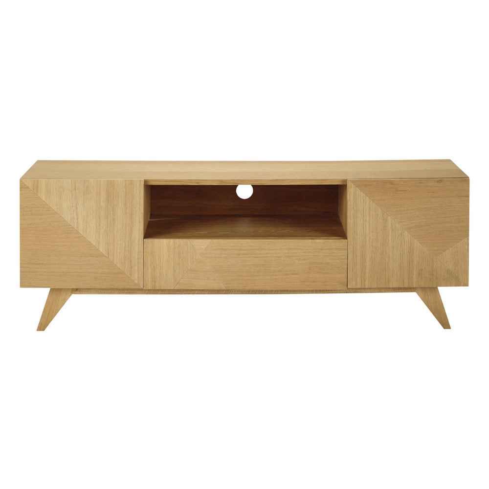 Tv meubel houten breedte 150 cm origami maisons du monde - Houten meubels ...