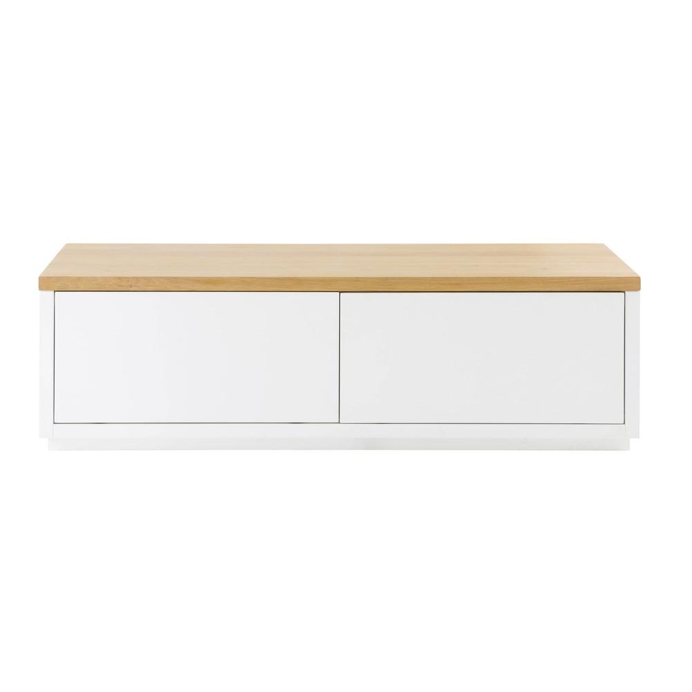 tv m bel mit 2 t ren wei austral maisons du monde. Black Bedroom Furniture Sets. Home Design Ideas