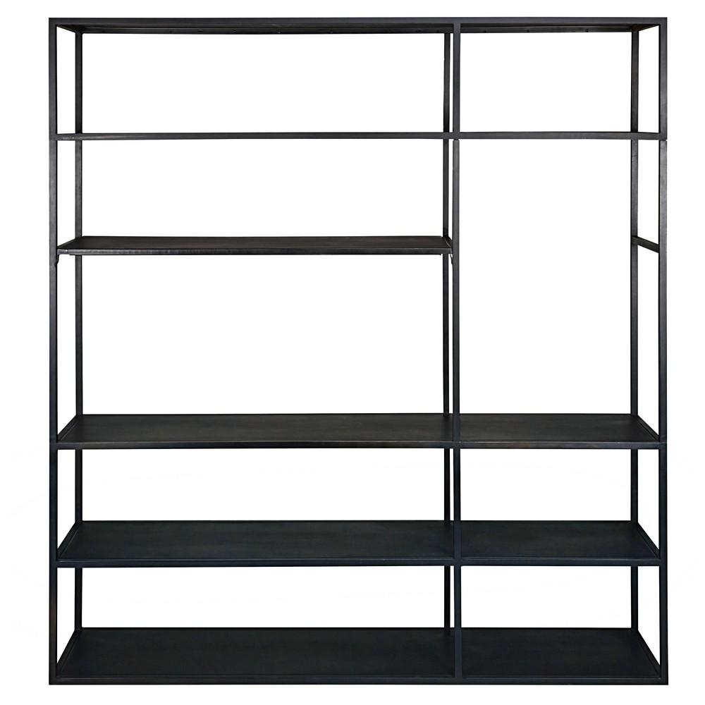 tv regal aus schwarzem metall edison maisons du monde. Black Bedroom Furniture Sets. Home Design Ideas