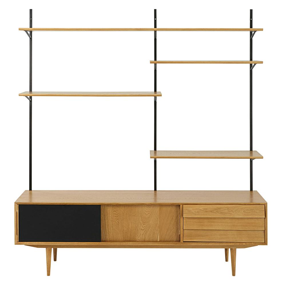 tv regal im vintage stil mit 3 t ren sheffield maisons. Black Bedroom Furniture Sets. Home Design Ideas