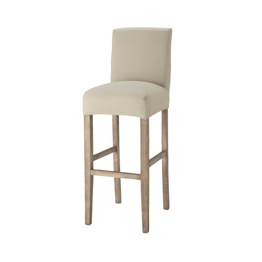 berwurf f r barstuhl aus baumwolle kittfarben boston boston maisons du monde. Black Bedroom Furniture Sets. Home Design Ideas
