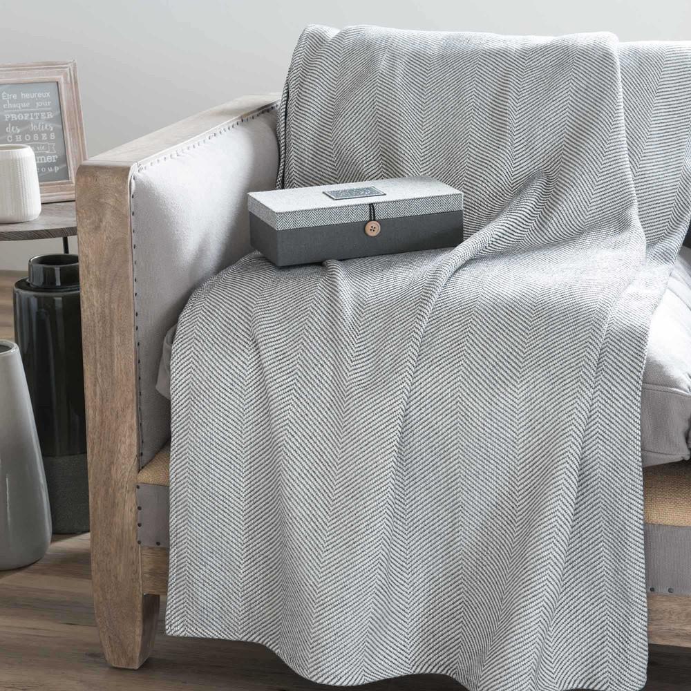 berwurf grau 160 x 210 cm comiso maisons du monde. Black Bedroom Furniture Sets. Home Design Ideas