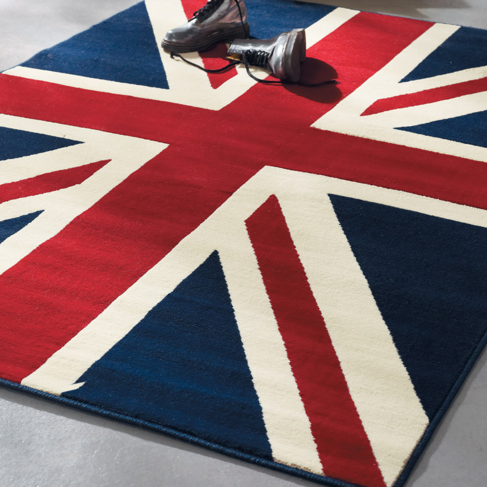 union jack rug 140x200 maisons du monde. Black Bedroom Furniture Sets. Home Design Ideas