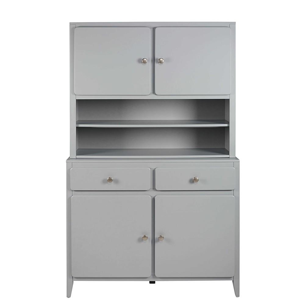 vaisselier 4 portes 2 tiroirs gris thelma maisons du monde. Black Bedroom Furniture Sets. Home Design Ideas