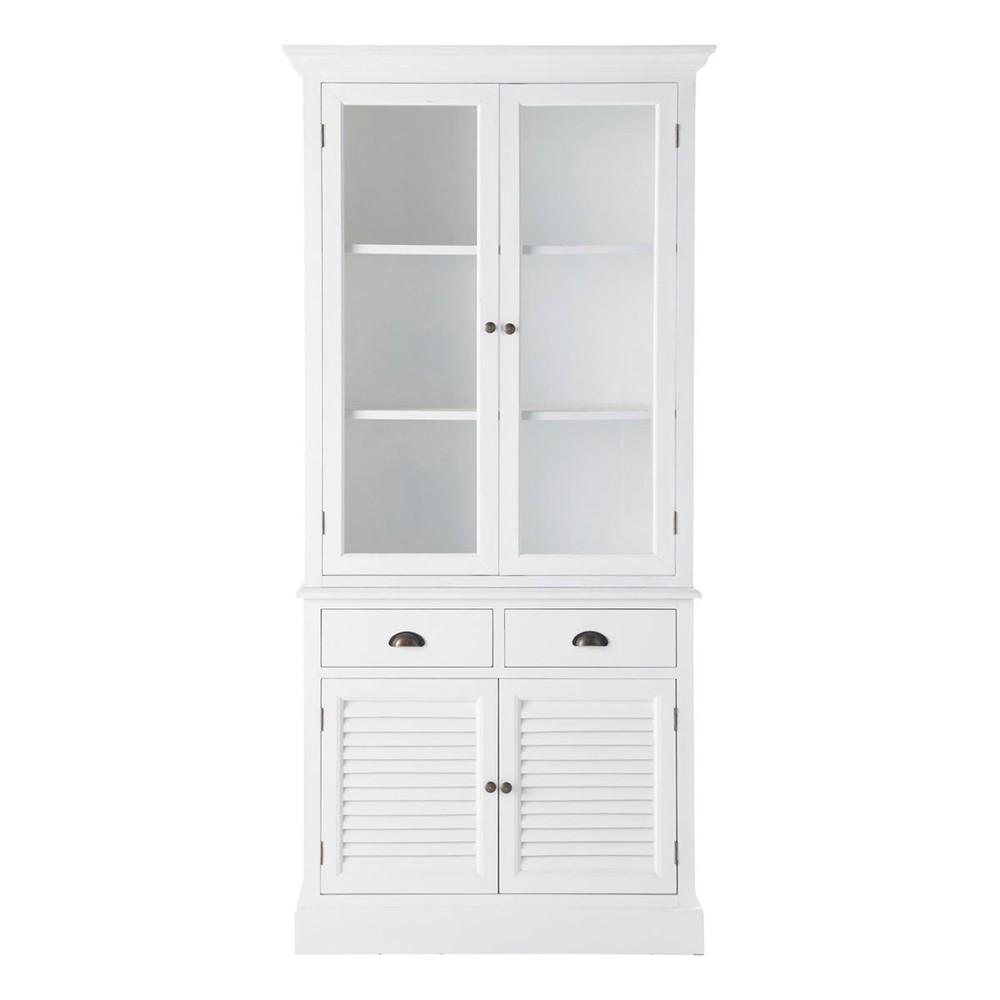 Vaisselier blanc barbade maisons du monde - Vaisselier blanc et bois ...