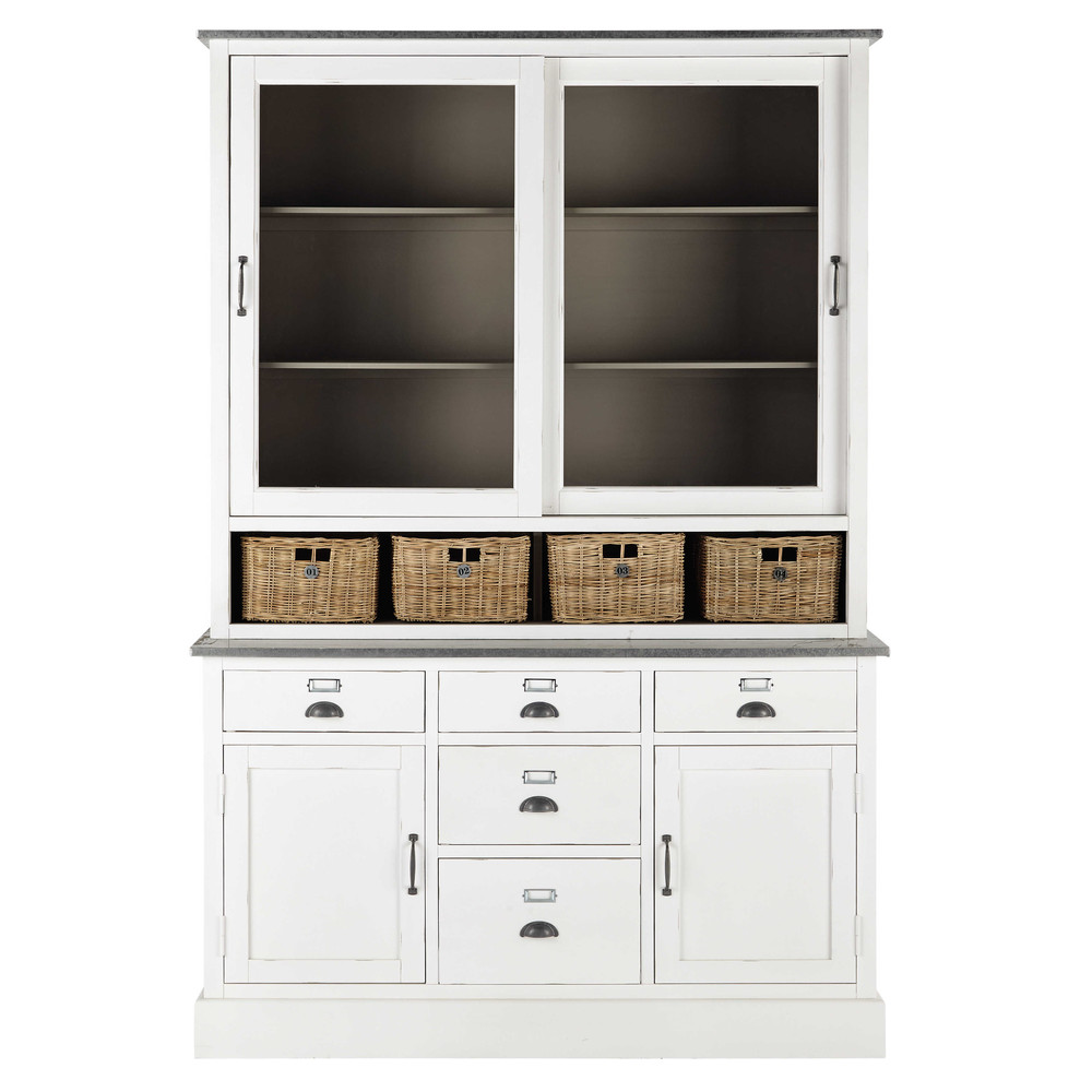 vaisselier en bois blanc l 145 cm sorgues maisons du monde. Black Bedroom Furniture Sets. Home Design Ideas