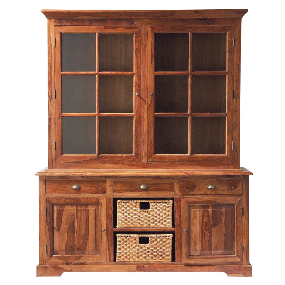 vaisselier en bois de sheesham massif l 180 cm luberon maisons du monde. Black Bedroom Furniture Sets. Home Design Ideas
