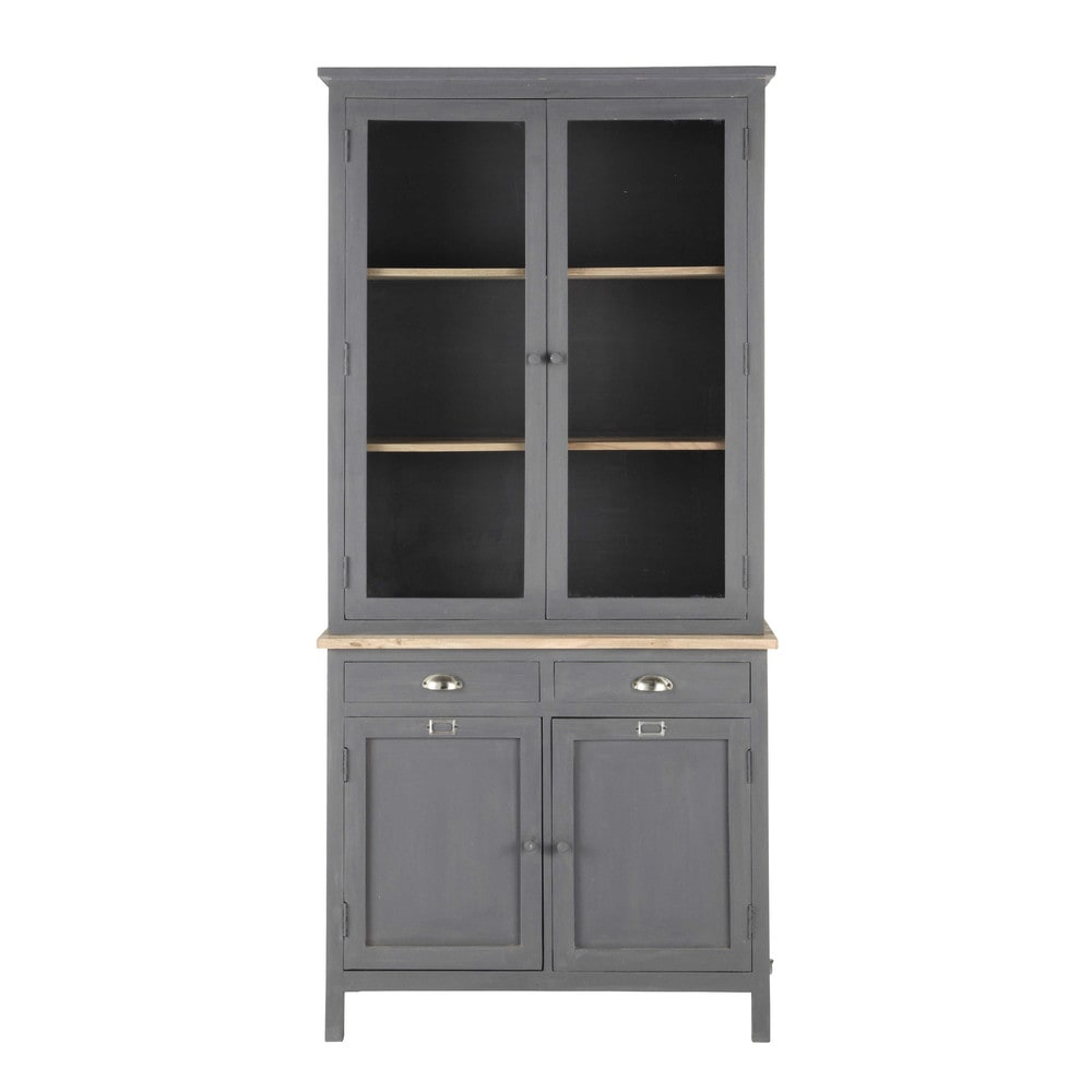 vaisselier en bois gris l 95 cm chablis maisons du monde. Black Bedroom Furniture Sets. Home Design Ideas