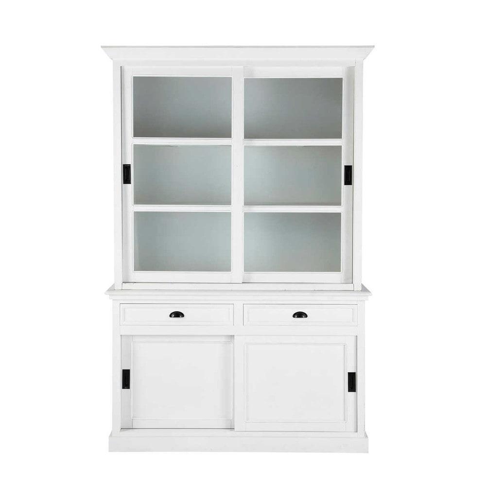 vaisselier en pin blanc l 145 cm newport maisons du monde. Black Bedroom Furniture Sets. Home Design Ideas