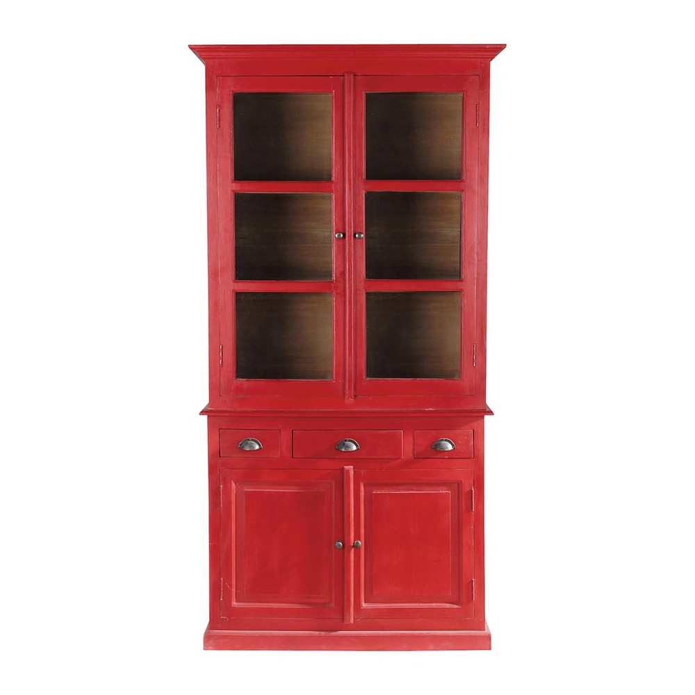 vaisselier rouge gascogne maisons du monde. Black Bedroom Furniture Sets. Home Design Ideas
