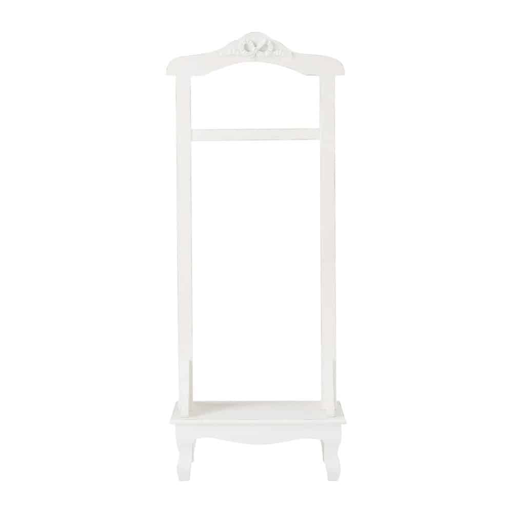 simple valet de chambre blanc avec pied en sapin charlotte maisons du monde with sapin maison du. Black Bedroom Furniture Sets. Home Design Ideas