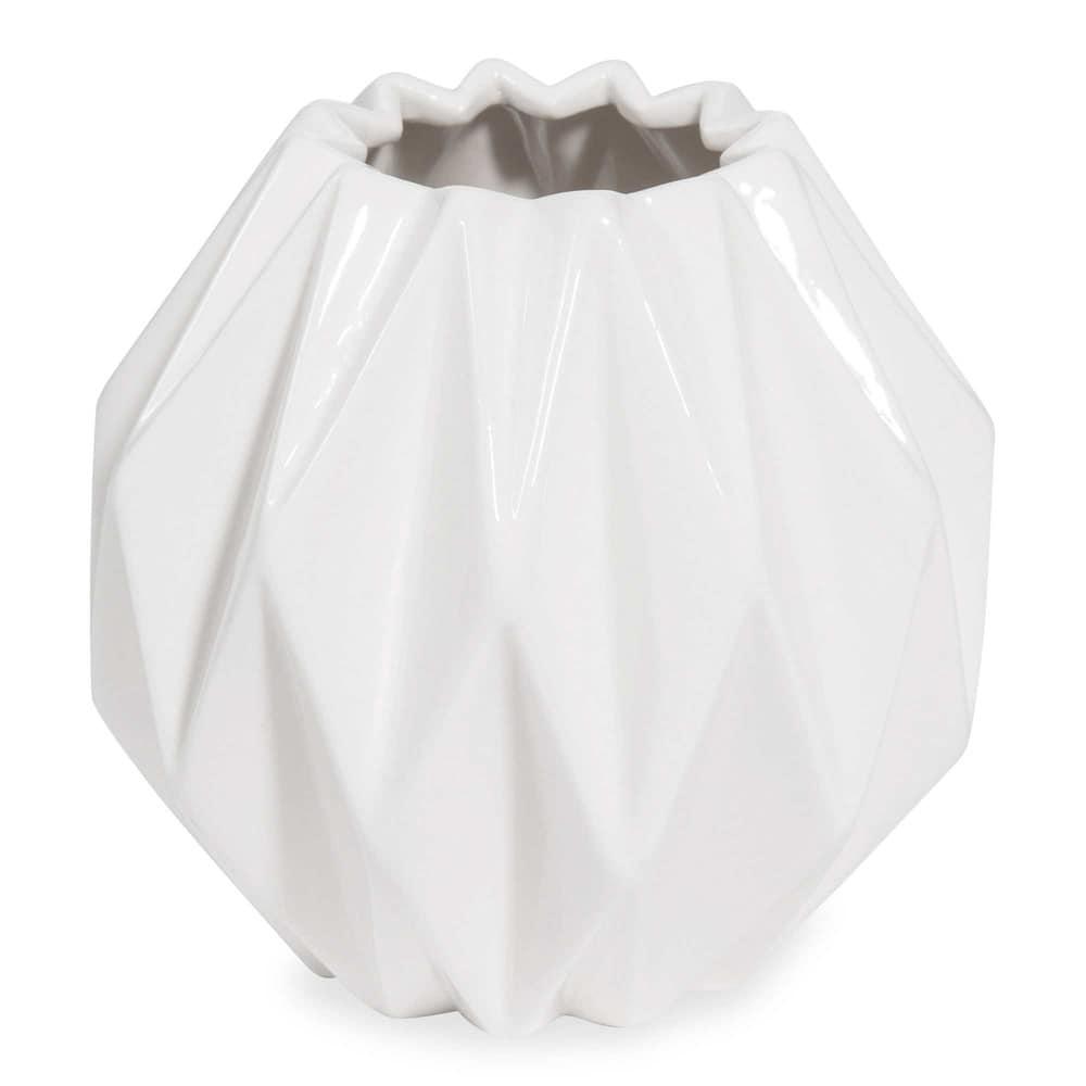 vase blanc en porcelaine h 10 cm malmo maisons du monde. Black Bedroom Furniture Sets. Home Design Ideas
