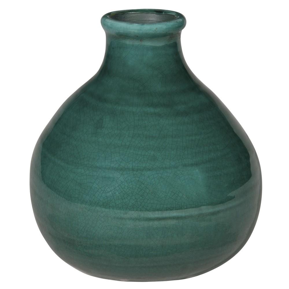 vase boule en terre cuite verte h20 maisons du monde. Black Bedroom Furniture Sets. Home Design Ideas