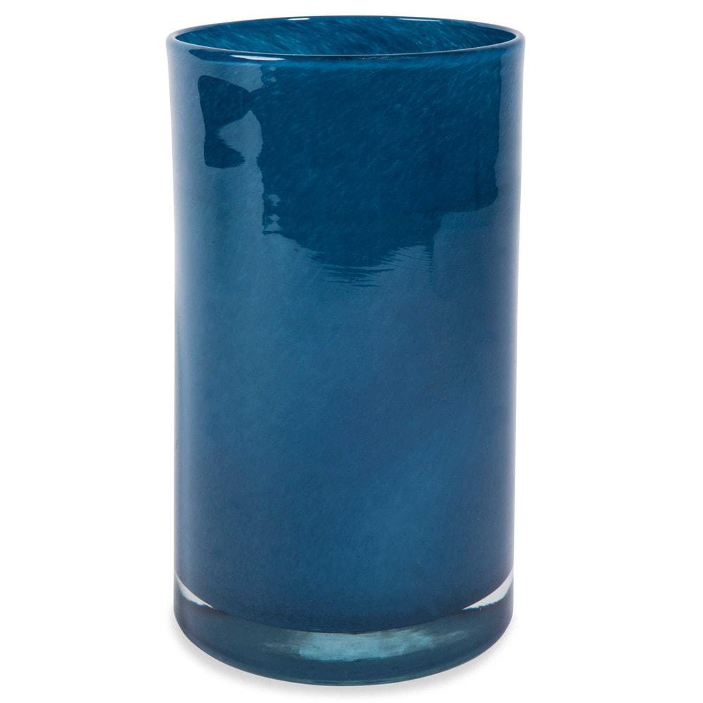vase cylindrique en verre bleu nuit h 20 cm maisons du monde. Black Bedroom Furniture Sets. Home Design Ideas