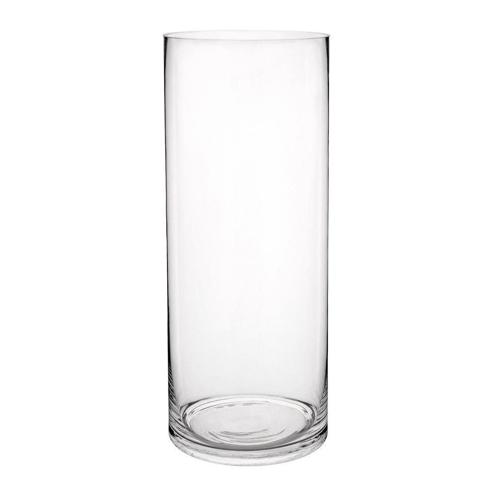 vase cylindrique en verre h 40 cm maisons du monde. Black Bedroom Furniture Sets. Home Design Ideas