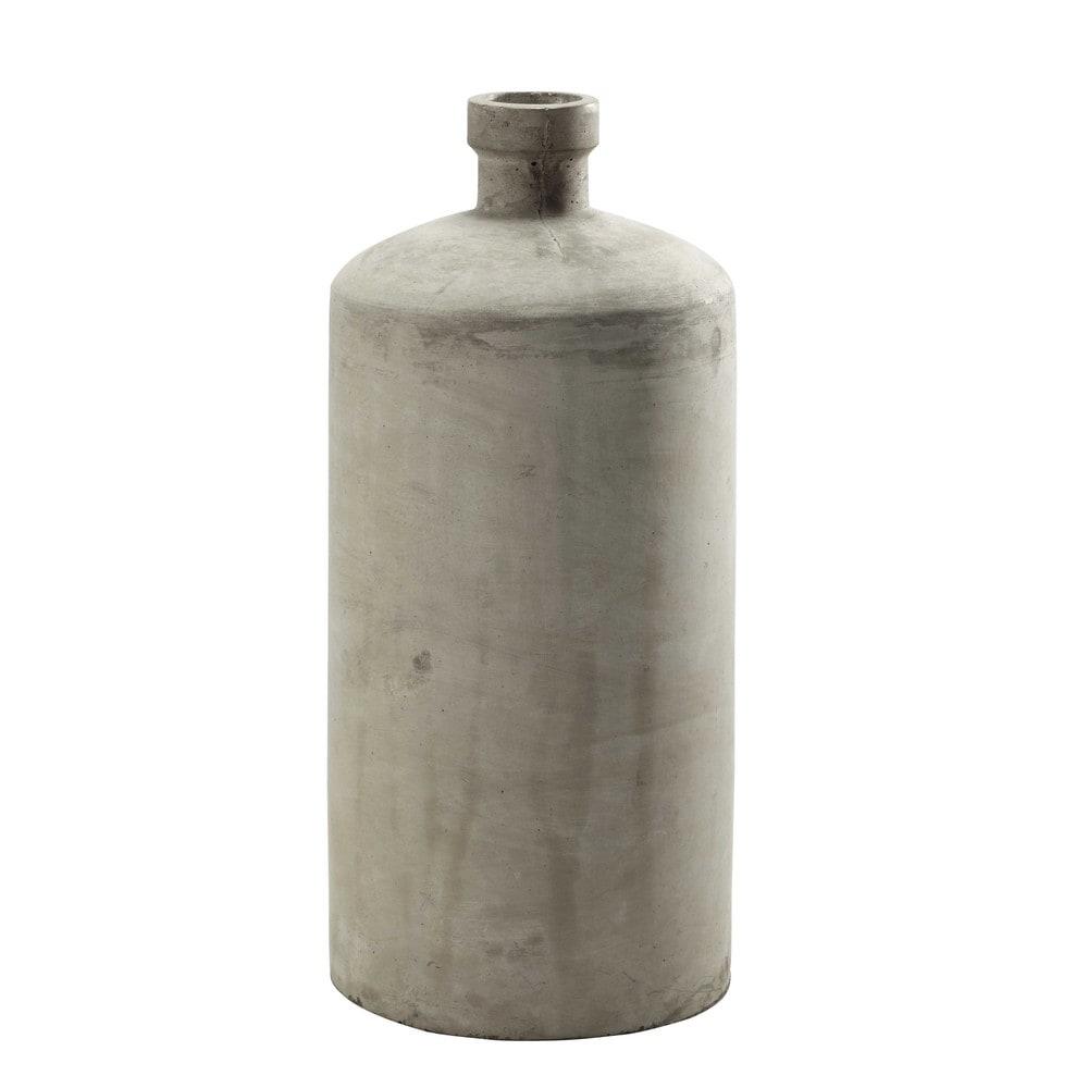 vase en b ton gris clair h 49 cm vermont maisons du monde. Black Bedroom Furniture Sets. Home Design Ideas
