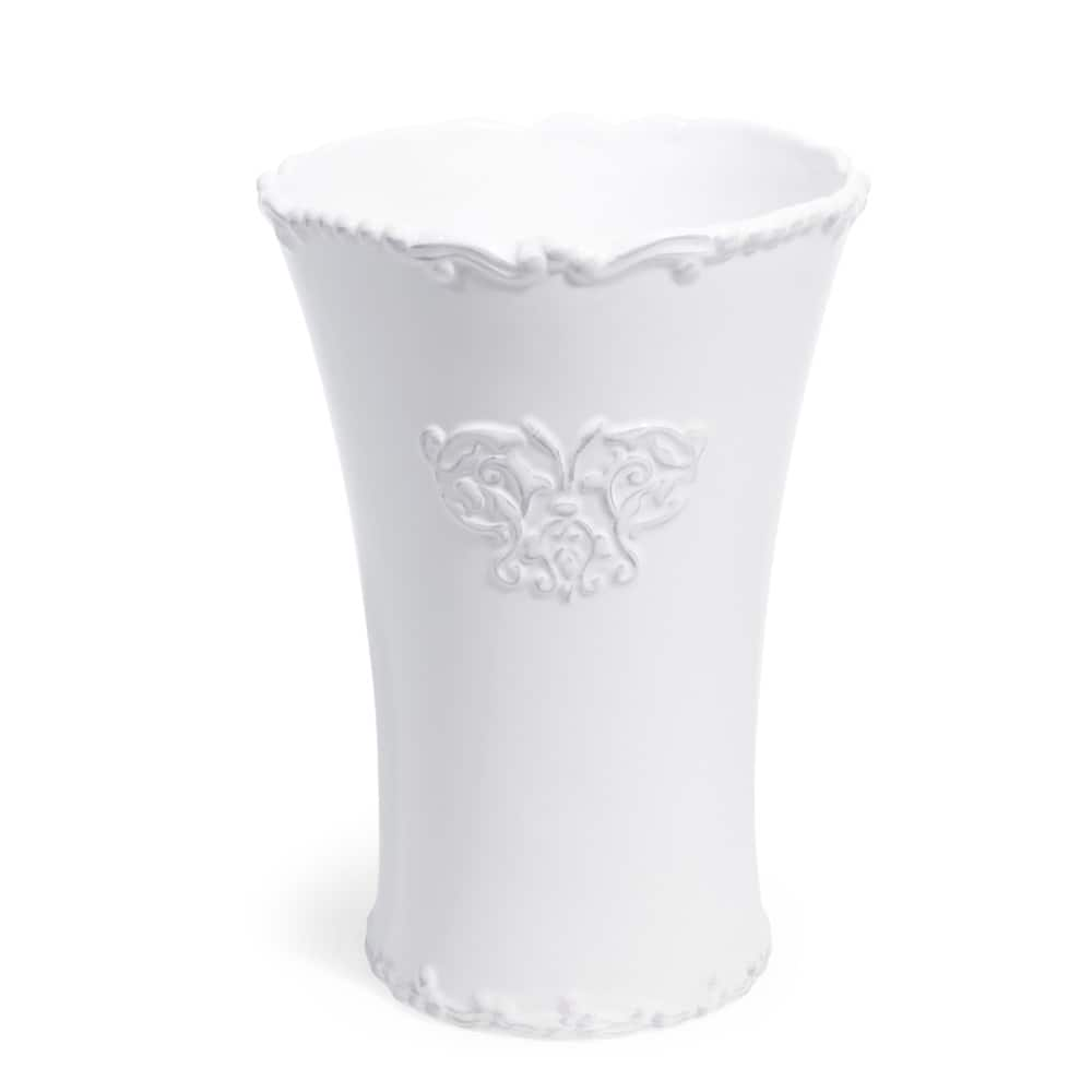 vase en c ramique blanche h 23 cm aristide maisons du monde. Black Bedroom Furniture Sets. Home Design Ideas