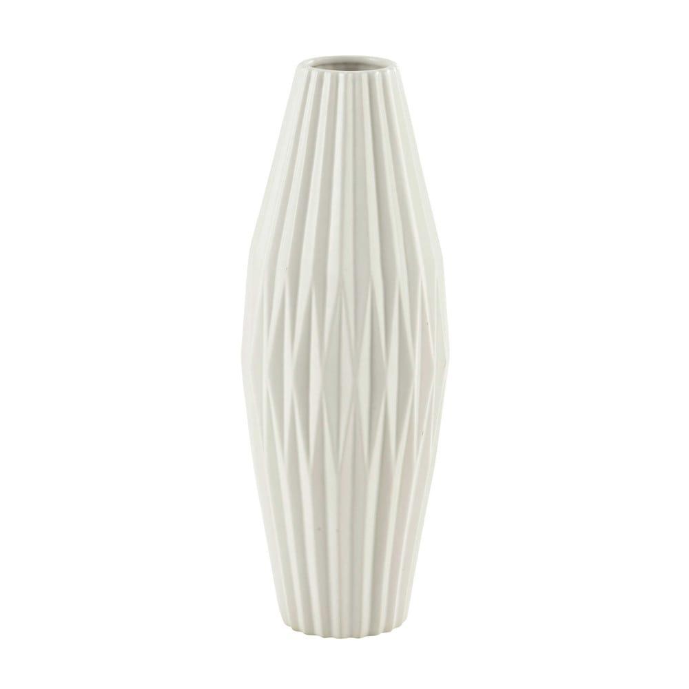 vase en c ramique blanche h 48 cm emma maisons du monde. Black Bedroom Furniture Sets. Home Design Ideas