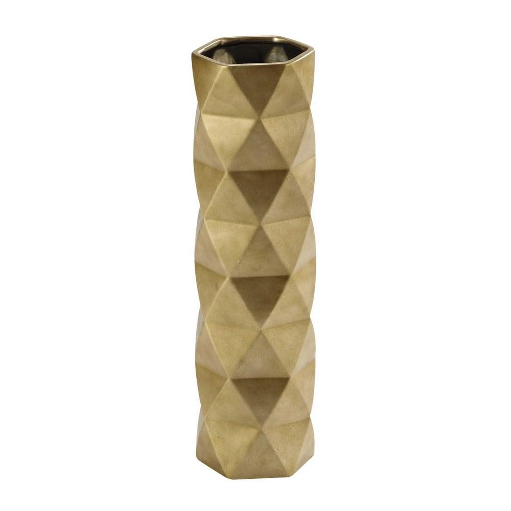 vase en c ramique dor e h 52 cm dorothy maisons du monde. Black Bedroom Furniture Sets. Home Design Ideas