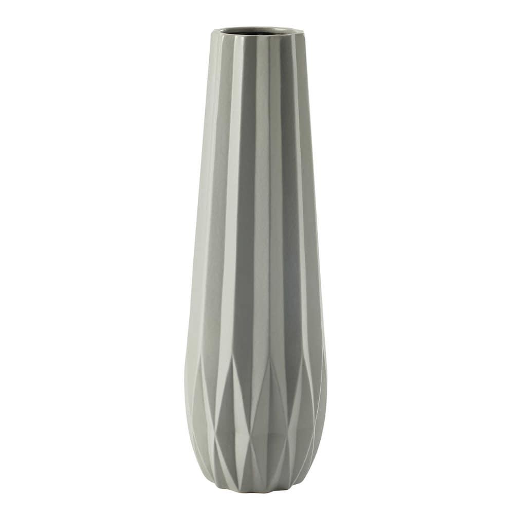 vase en c ramique gris h 69 cm origamix maisons du monde. Black Bedroom Furniture Sets. Home Design Ideas