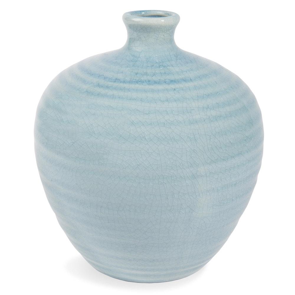 Vase en gr s bleu h 21 cm am lie maisons du monde for Maison du monde 21