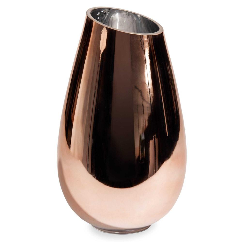 vase en verre h 25 cm copper maisons du monde. Black Bedroom Furniture Sets. Home Design Ideas