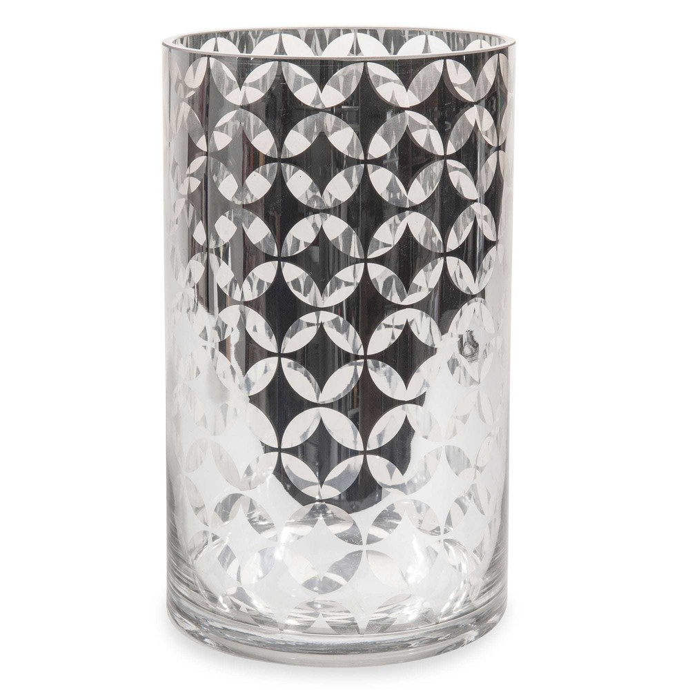 vase en verre h 25 cm fifties maisons du monde. Black Bedroom Furniture Sets. Home Design Ideas