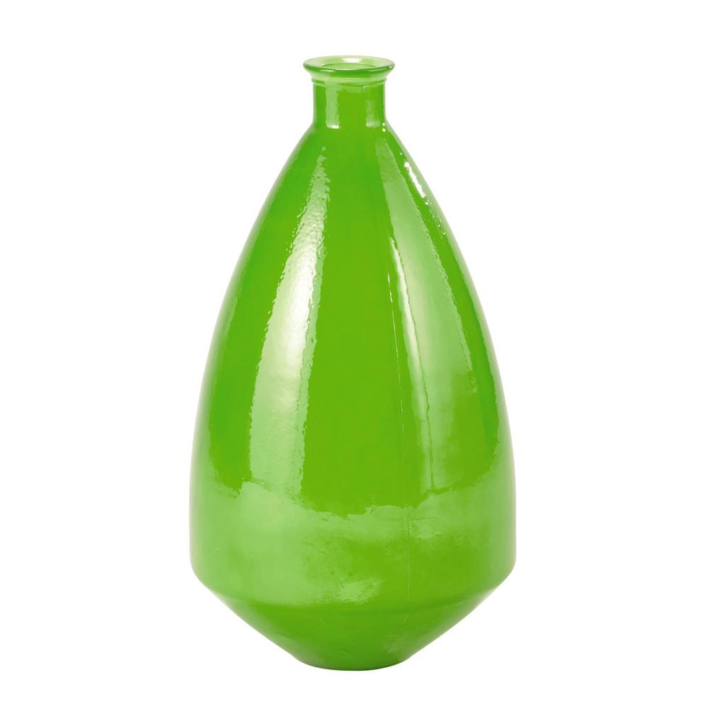 vase en verre vert h 60 cm luis maisons du monde. Black Bedroom Furniture Sets. Home Design Ideas