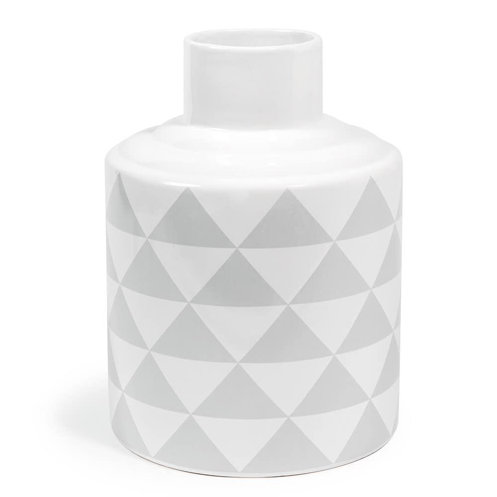 vase scandinave aus dolomit mit motiven h 22 cm grau. Black Bedroom Furniture Sets. Home Design Ideas