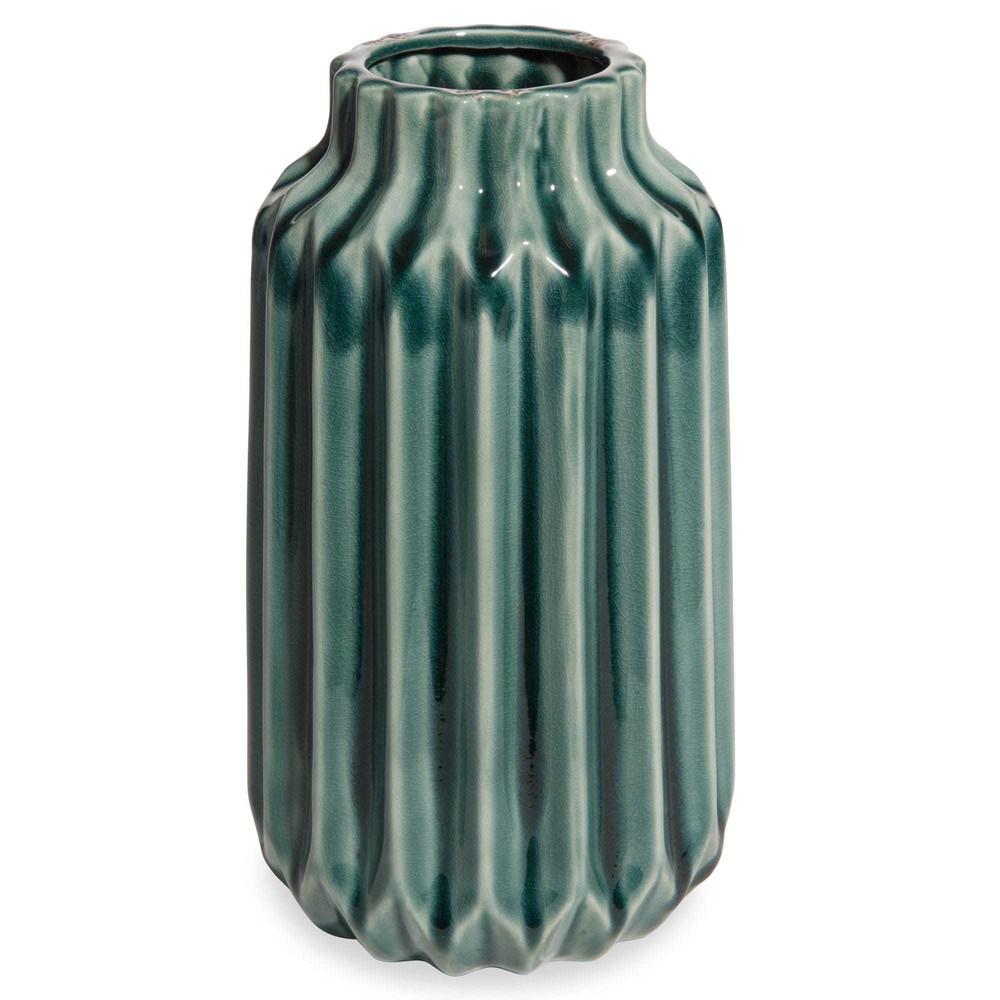 Vaso blu in ceramica cm pliage maisons du monde for Vaso blu