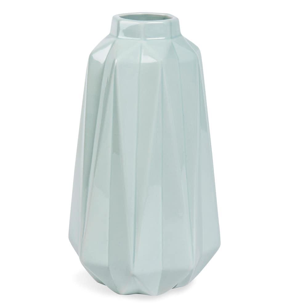 Vaso blu in ceramica h 25 cm uppsala maisons du monde for Vaso blu