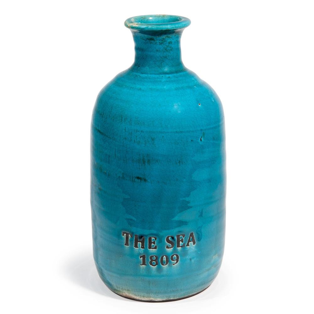 Vaso blu in gres h 35 cm phoc on maisons du monde for Vaso blu