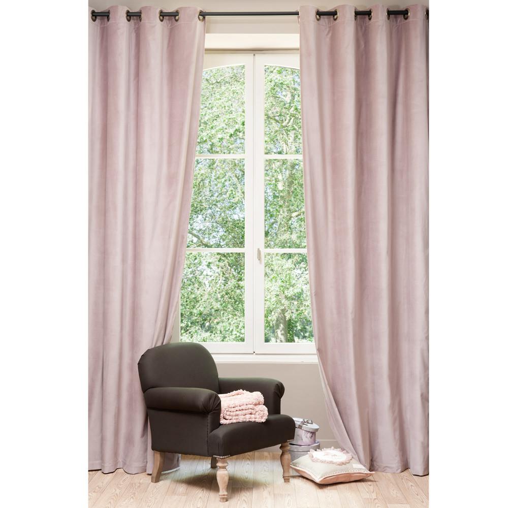 veloursvorhang perlrosa maisons du monde. Black Bedroom Furniture Sets. Home Design Ideas