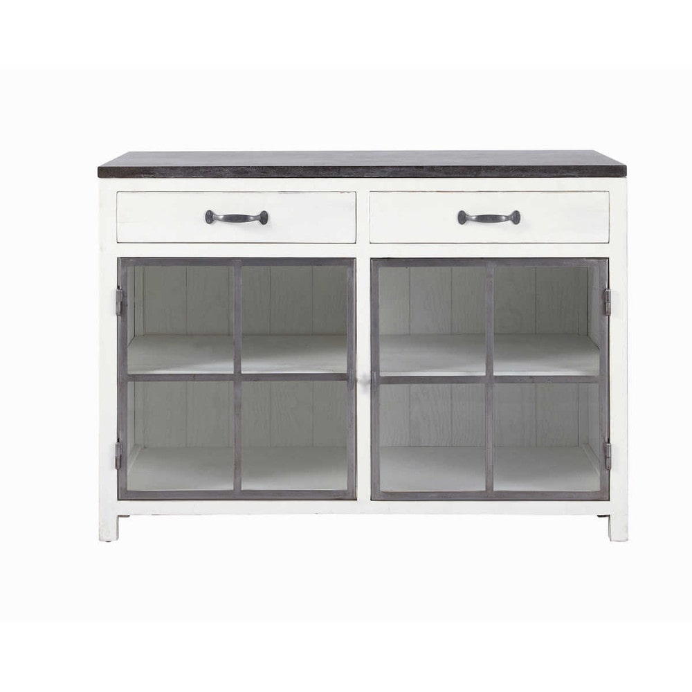 verglaster k chenunterschrank aus recyclingholz und stein. Black Bedroom Furniture Sets. Home Design Ideas