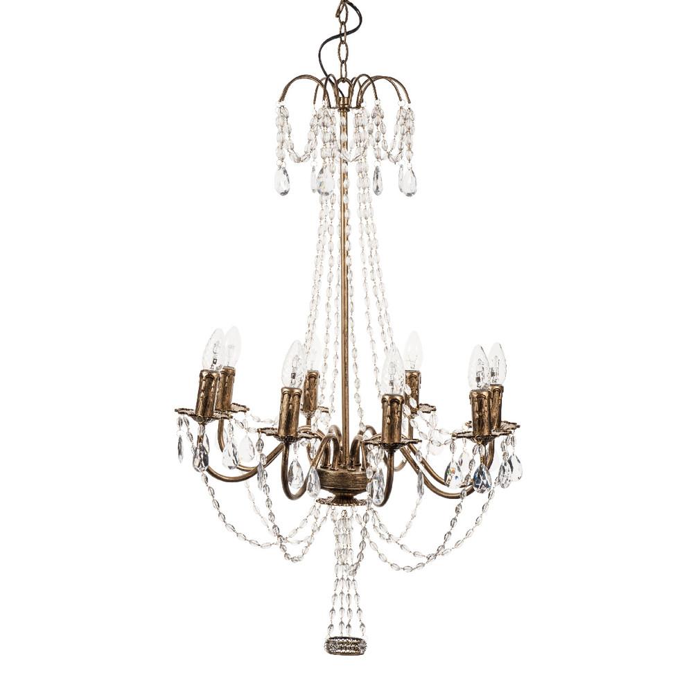 Vicomte metal 8 branch chandelier in gold d 54cm maisons du monde - Chandelier maison du monde ...