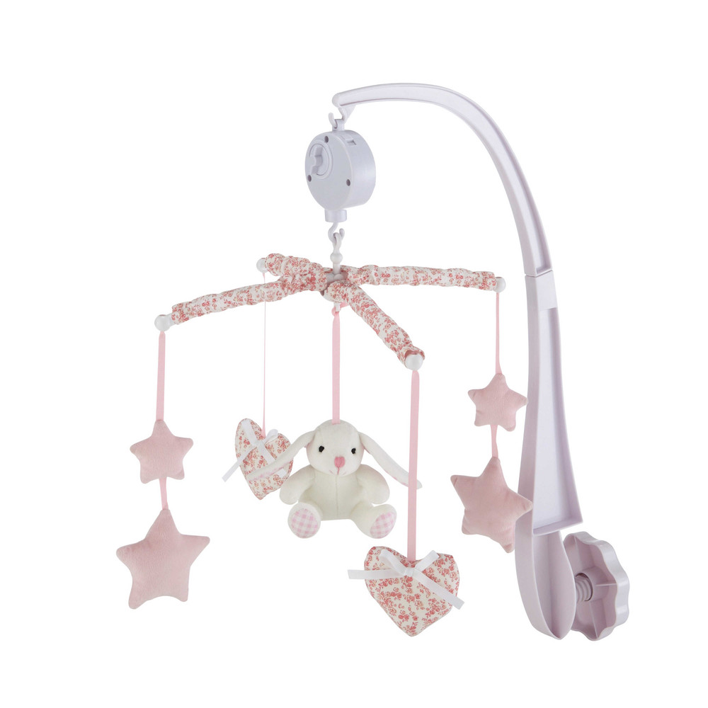victorine musical baby mobile in pink maisons du monde. Black Bedroom Furniture Sets. Home Design Ideas