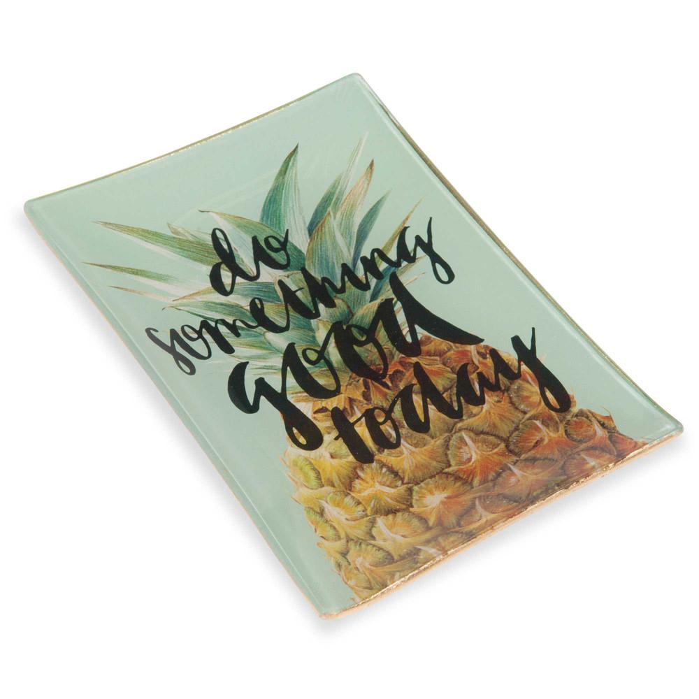 vide poche en verre imprim ananas maisons du monde