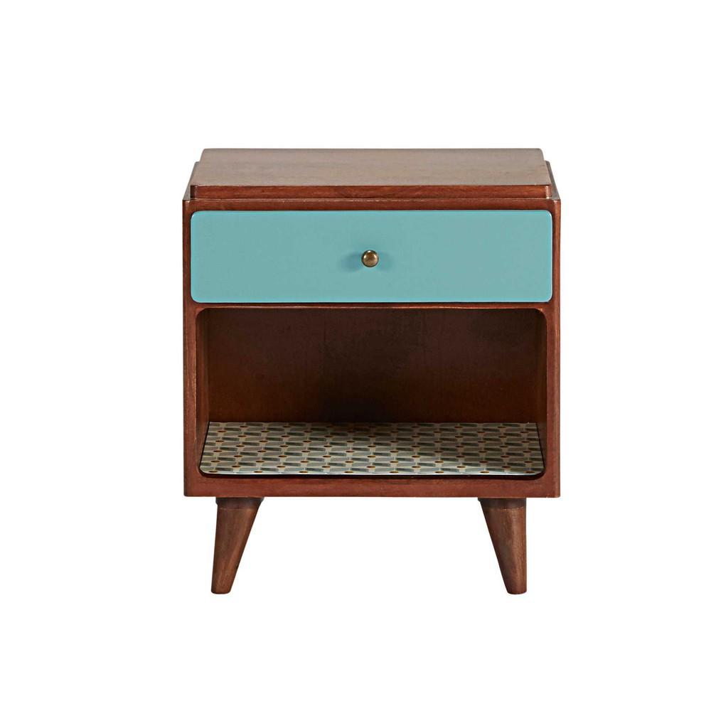 Vintage 1 drawer bedside table lucette maisons du monde - Tafel met chevet ...